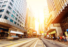Le vie di Hong Kong Immagini Stock