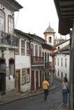 Le vie di Ouro Preto Fotografia Stock