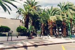 Le vie di Puerto de la Cruz in Tenerife, Spagna Immagine Stock