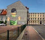 Le vie di vecchia città di Dessau germany Immagini Stock