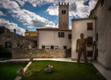 Le vie di vecchia città di Rovigno La Croazia fotografia stock