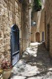 Le vie di vecchio Jaffa immagini stock libere da diritti