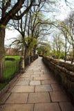 Le vie e la città di Chester parcheggiano in primavera Immagine Stock Libera da Diritti
