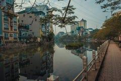 Le vie pacifiche di Hanoi fotografia stock