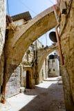 Le vie strette di Gerusalemme. Fotografie Stock Libere da Diritti