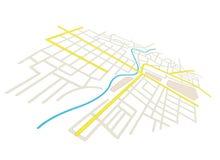 Le vie sulla città progettano - nella prospettiva Illustrazione di Stock