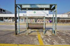 Le vieil aéroport abandonné d'Ellinikon Athènes Photo stock