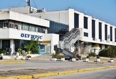Le vieil aéroport abandonné d'Ellinikon Athènes Photo libre de droits