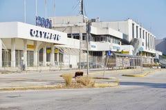 Le vieil aéroport abandonné d'Ellinikon Athènes Photos libres de droits
