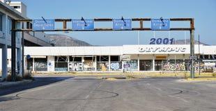 Le vieil aéroport abandonné d'Ellinikon Athènes Image stock