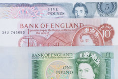 Le vieil anglais Sterling Image libre de droits