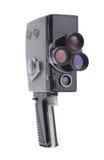 Le vieil appareil-photo sur un fond blanc Photo libre de droits