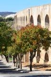 Le vieil aqueduc d'Amoreira près d'Elvas, Portugal Images libres de droits
