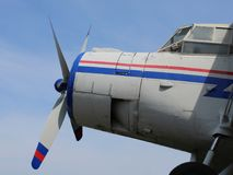 Le vieil avion image libre de droits
