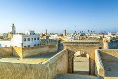 Le vieil EL portugais historique Jadida de ville de forteresse au Maroc Image libre de droits