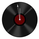 Le vieil enregistrement réutilisé dans l'horloge - à douze - temps a détruit, allant et Image stock