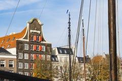Le vieil entrepôt a appelé Stockholm Huis, Dordrecht, Pays-Bas image stock