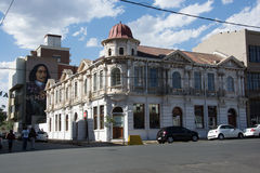 Le vieil hôtel cosmopolite en enceinte populaire de Maboneng de J Images stock
