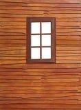 Le vieil hublot en bois Images stock