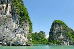 Le Vietnam - compartiment de Halong photographie stock libre de droits