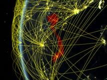Le Vietnam de l'espace avec le réseau photo libre de droits