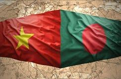 Le Vietnam et le Bangladesh Photo libre de droits