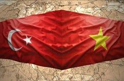 Le Vietnam et la Turquie Images stock