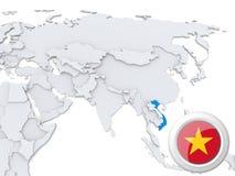 Le Vietnam sur la carte de l'Asie illustration libre de droits