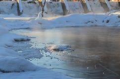 Le vieux barrage Image libre de droits