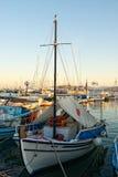 Le vieux bateau de pêche Images libres de droits