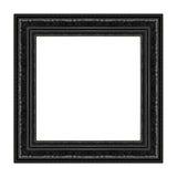 Le vieux cadre noir antique a isolé le bois découpé décoratif photo stock