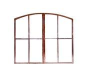 Le vieux châssis de fenêtre d'isolement Images libres de droits