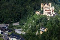 Le vieux château de cygne Image stock