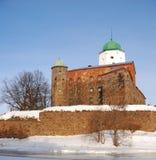 Le vieux château de Vyborg Photographie stock