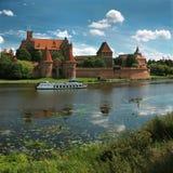 Le vieux château Malbork - en Pologne. Image stock