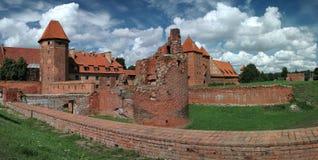 Le vieux château Malbork - en Pologne. Image libre de droits