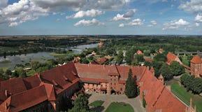 Le vieux château Malbork - en Pologne. Photographie stock