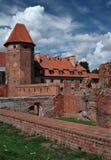 Le vieux château Malbork - Pologne. Images libres de droits