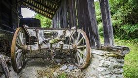 Le vieux chariot de Zivojin Misic photo libre de droits