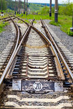 Le vieux chemin de fer Images libres de droits