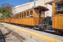 Le vieux chemin de fer de Soller en Palma Majorca photo libre de droits