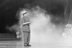 Le vieux chencunjin masculin taiwanais de chanteur chantent Image stock