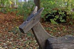 Le vieux cheval en bois Photographie stock