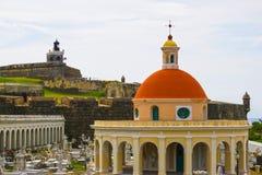 Le vieux cimetière à San Juan chez le Porto Rico photo libre de droits