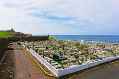 Le vieux cimetière à San Juan chez le Porto Rico photographie stock libre de droits