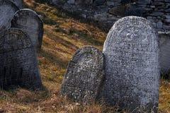 Le vieux cimetière juif Image stock