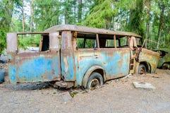 Le vieux cimetière de voiture Photo libre de droits
