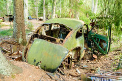 Le vieux cimetière de voiture Photo stock