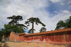 Le vieux circumvallation du tombeau de Ming à Pékin Image libre de droits