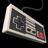 le vieux coeur de fond de concept de jeu d'amour de contrôleur de vintage de gamepad rendent d'isolement Image libre de droits